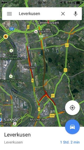 Die Autobahn ist frei, zumindest für Google Maps. Eigentlich ist sie nämlich voll gesperrt.